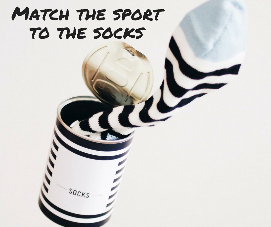 Match the sport to the socks